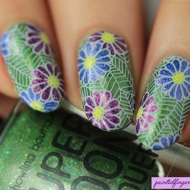 Flower nail art stamping decals thumb370f