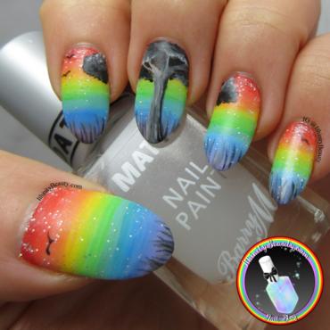 The Rainbow Tree nail art by Ithfifi Williams