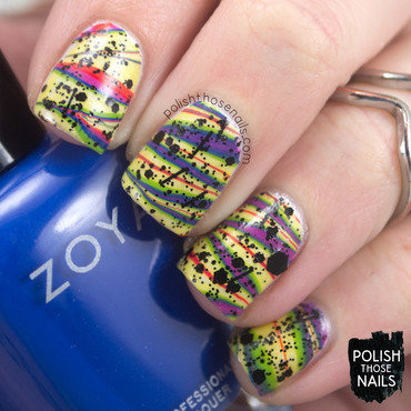 Watermarble That Rainbow, Girl nail art by Marisa  Cavanaugh