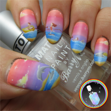Bertie McBurtlebutton Goes Skiing nail art by Ithfifi Williams