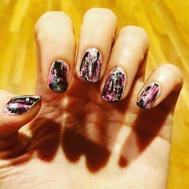 Oil Slick nail art by Mickey