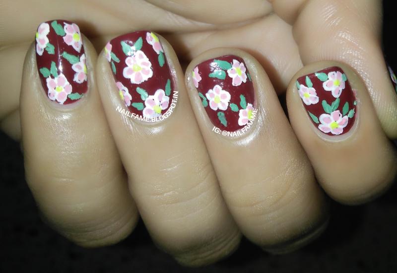 Floral Nails nail art by Nailfame