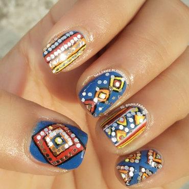 Navratri Nailart nail art by Nailfame