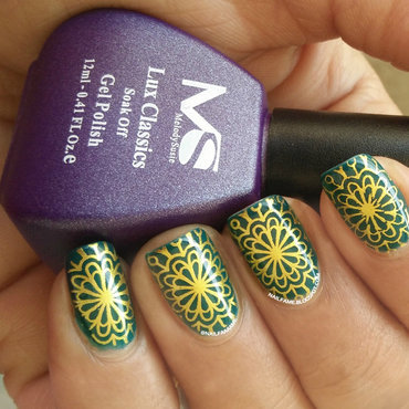 Stamping nail art by Nailfame