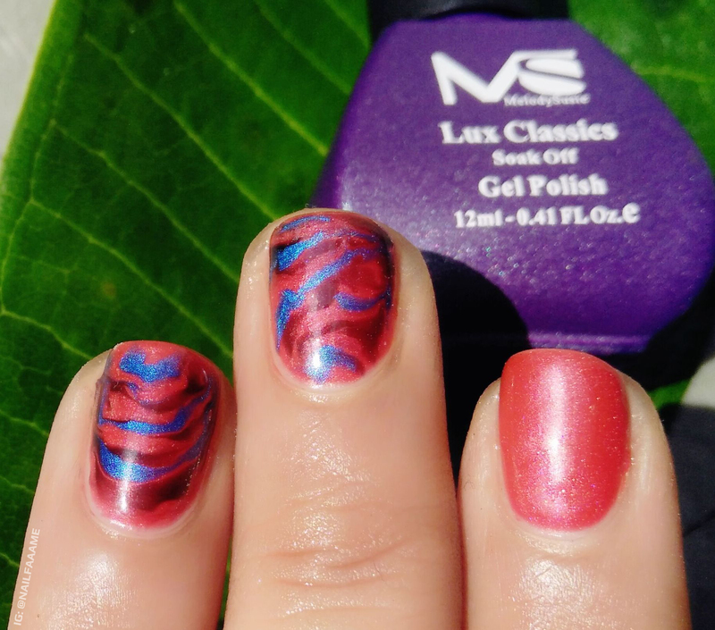 Marble Nails nail art by Nailfame
