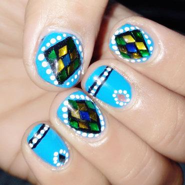 Glitter nail art by Nailfame