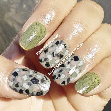 Terrazzo Nailart nail art by Nailfame
