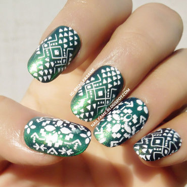 Stamping Nailart nail art by Nailfame