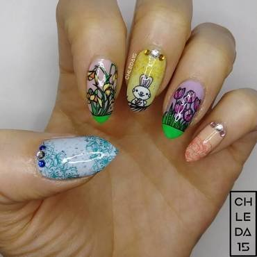 2018 #12 nail art by chleda15