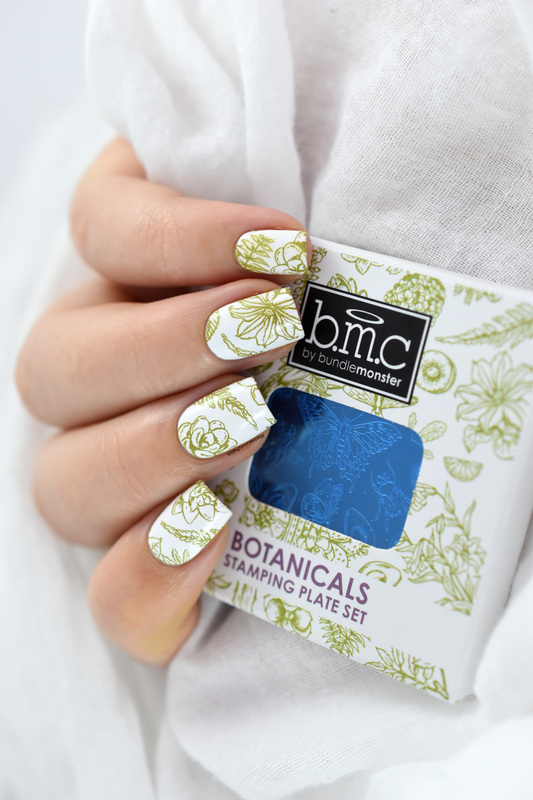 Botanicals nail art by Marine Loves Polish