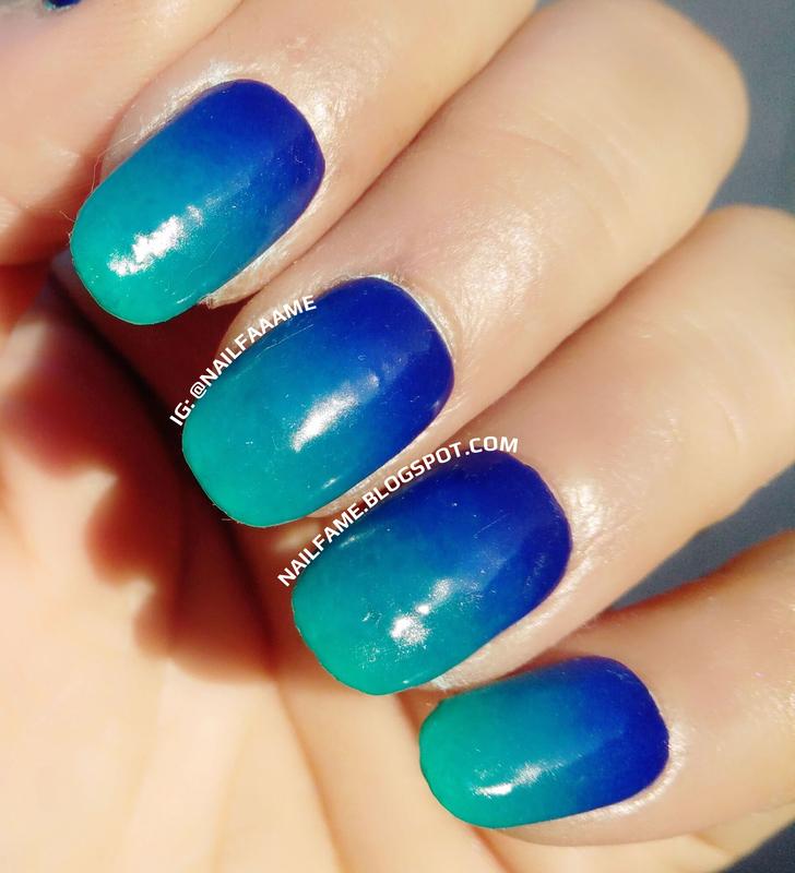 Blue Ombre nail art by Nailfame - Nailpolis: Museum of Nail Art