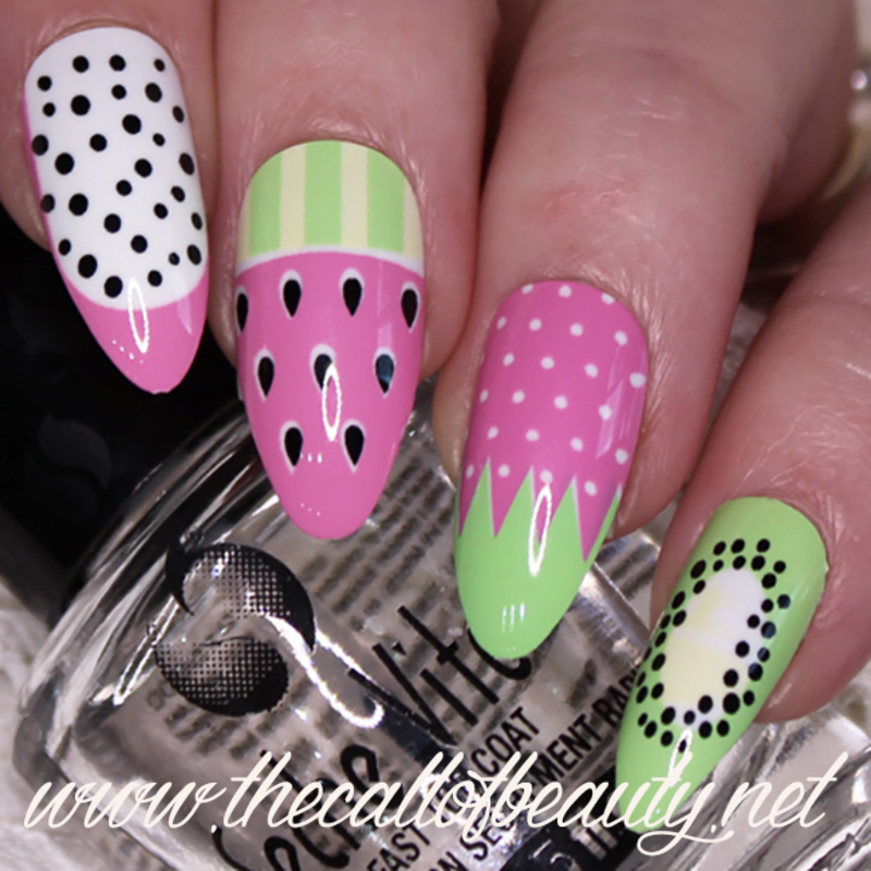 Fresh Fruit nail art by The Call of Beauty
