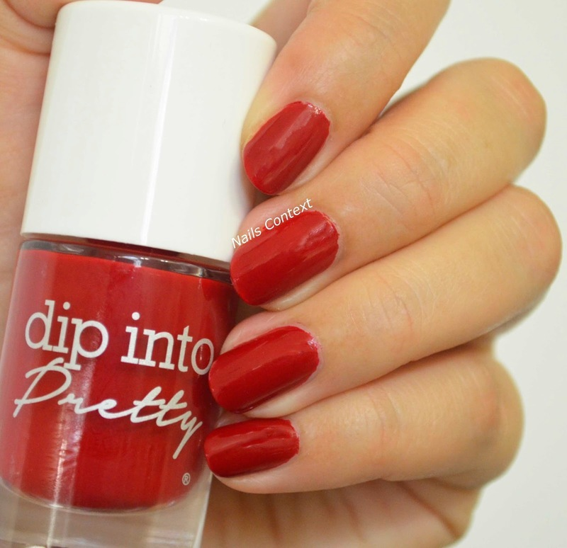 Dip Into Pretty Roses Are Red Swatch by NailsContext