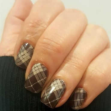 Brown  nail art by Katarinna
