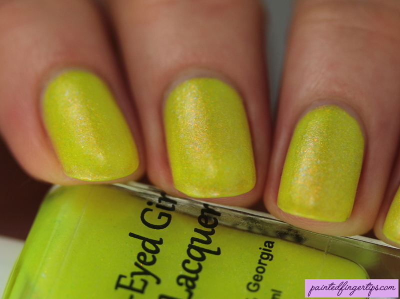 Blue-Eyed Girl Lacquer East ATL Rainbow Swatch by Kerry_Fingertips