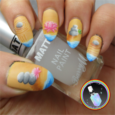 Freehand Zen Garden nail art by Ithfifi Williams