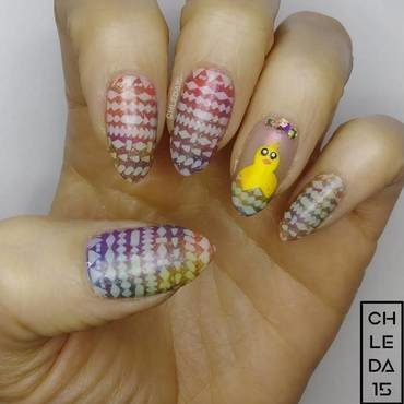 2018 #13 nail art by chleda15