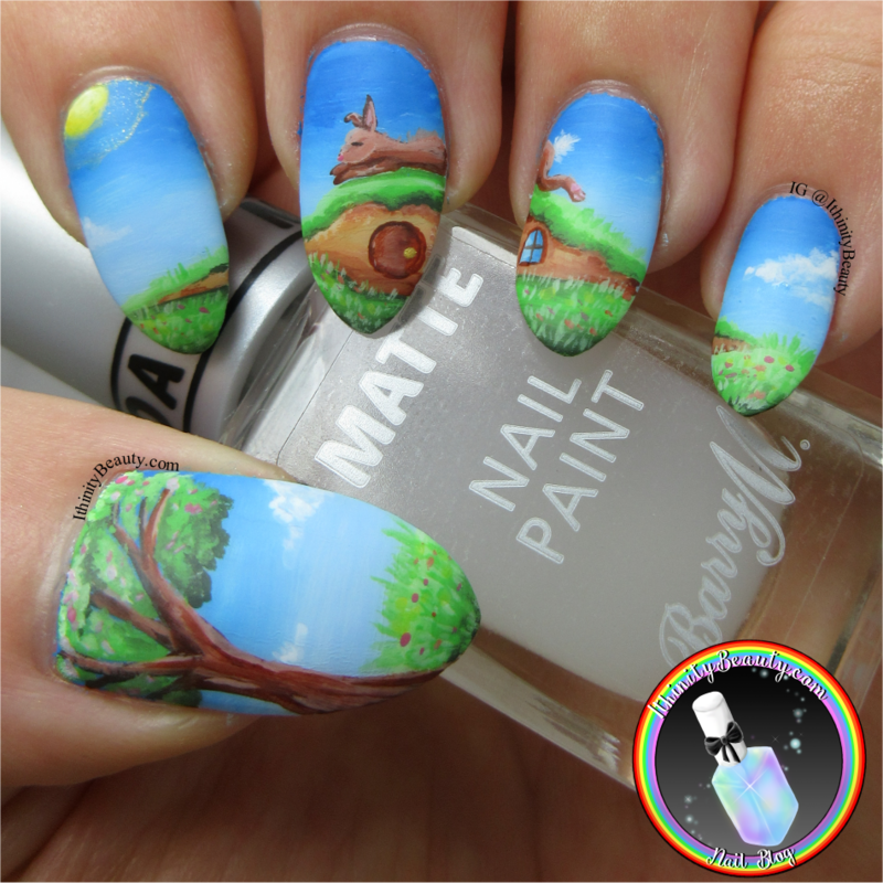 Sunbathing Bunning nail art by Ithfifi Williams