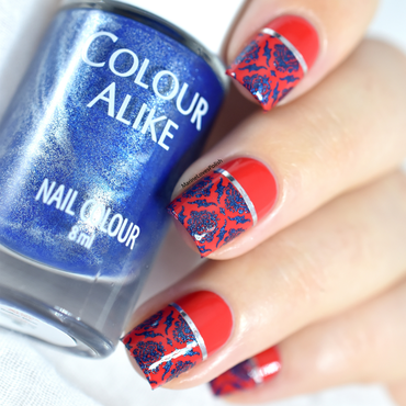 Colour alike pantone cherry tomato sailor blue stamping whats up nails b001 middle eastern vibes 20 4  thumb370f