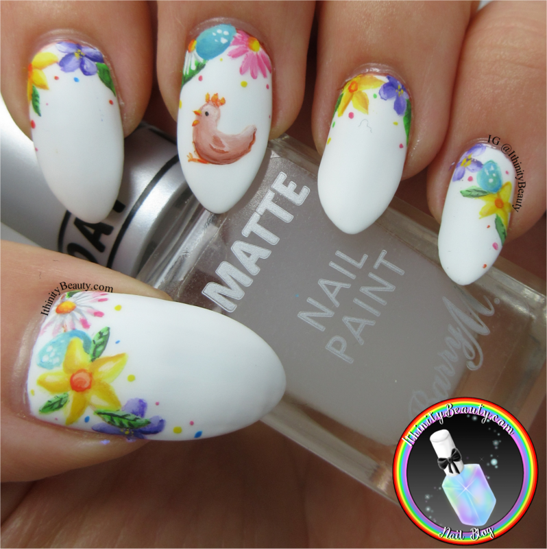 Easter Spring Chicken nail art by Ithfifi Williams