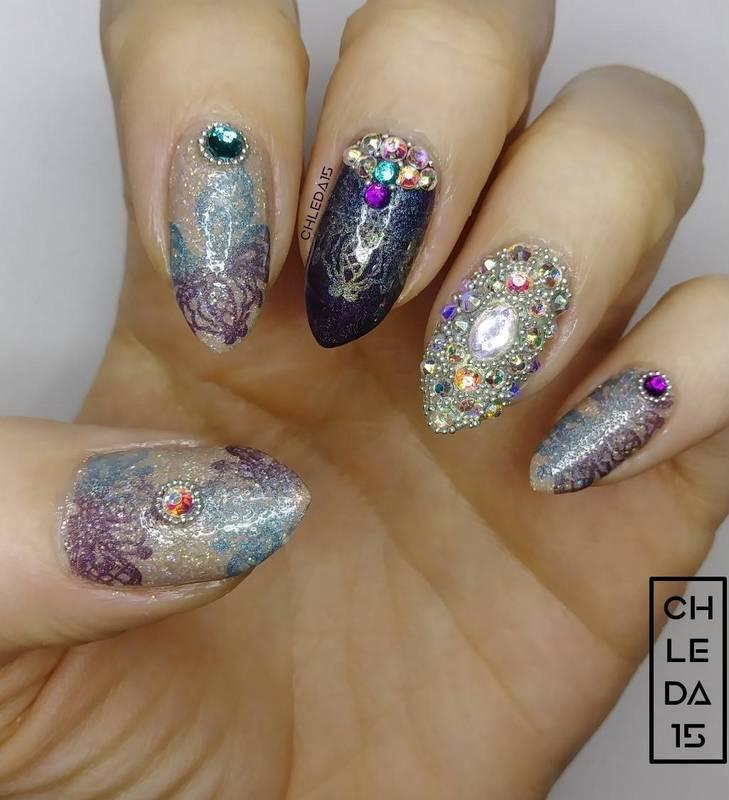 2018 #14 nail art by chleda15