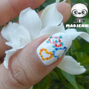 Spring Dotted Hearts Nail Art nail art by madjennsy Nail Art
