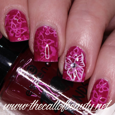 Butterflies Pond Manicure nail art by The Call of Beauty