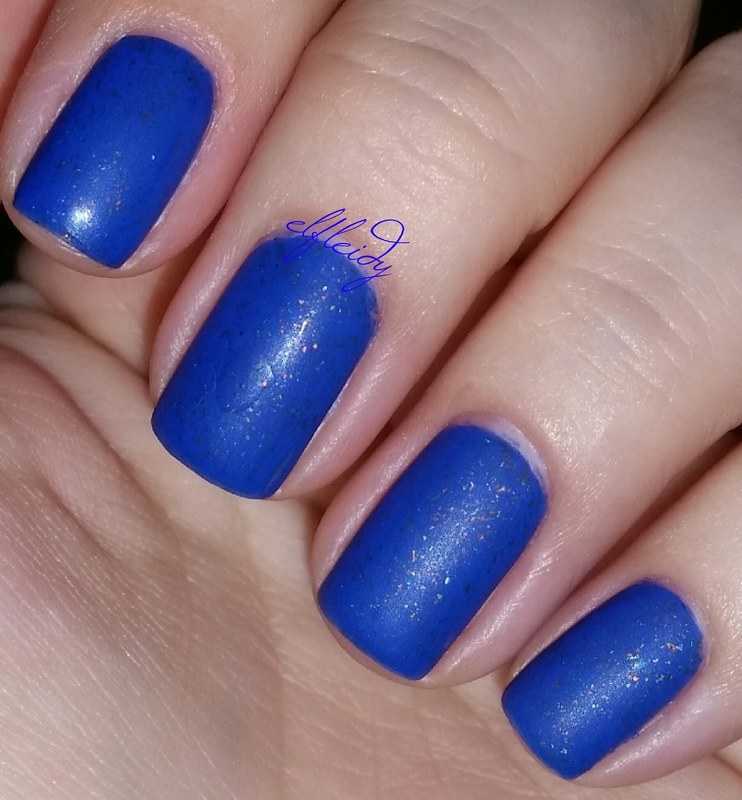 Wet 'n wild matte topcoat and Cirque Colors Lapis Lazuli Swatch by Jenette Maitland-Tomblin