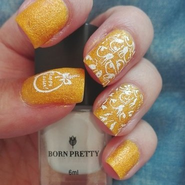 Yellow textured Easter nails nail art by Daisyq