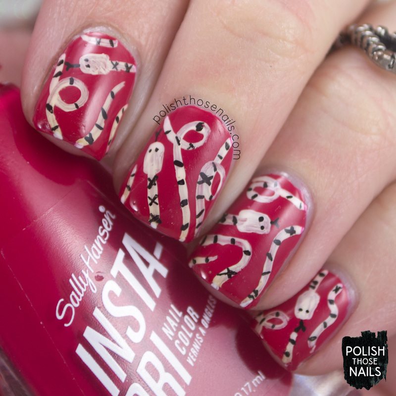 Let S Talk Nail Art: Let's Get Jam-min With The Snakes Nail Art By Marisa