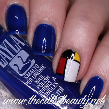 Mondrian Nails nail art by The Call of Beauty