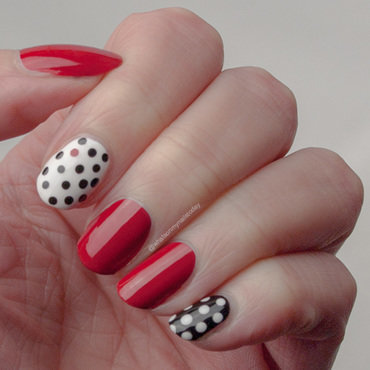 #52weeknailchallenge - week 15: Black + Red nail art by What's on my nails today?