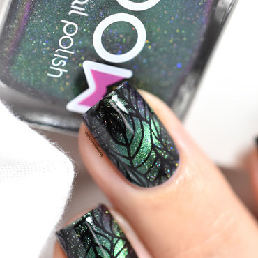 Bow polish born again holo magnetic polish b loves plates leaves of happiness b04 leaf nail art 20 3  thumb370f