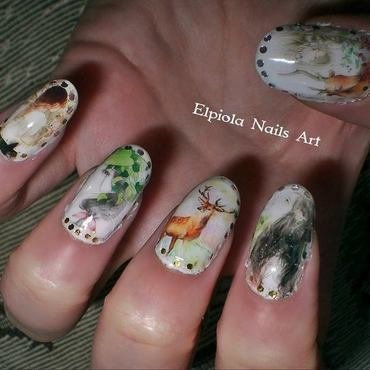 Nature Lover nail art by Elpiola Lluka