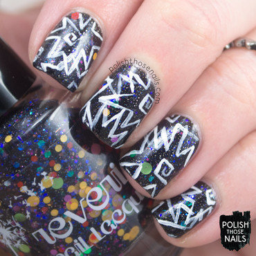 Ignite the 80s Goblin nail art by Marisa  Cavanaugh