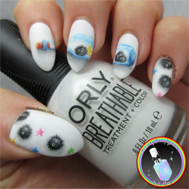 Freehand Soot Sprites nail art by Ithfifi Williams