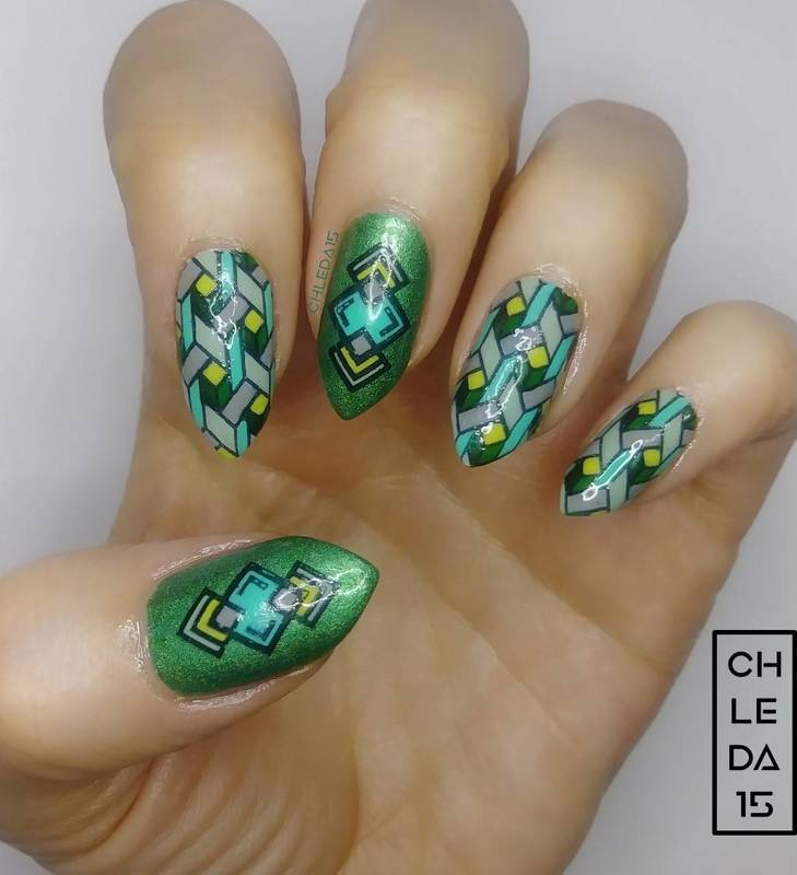 2018 #17 nail art by chleda15