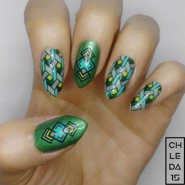 2018 #17 nail art by chleda15