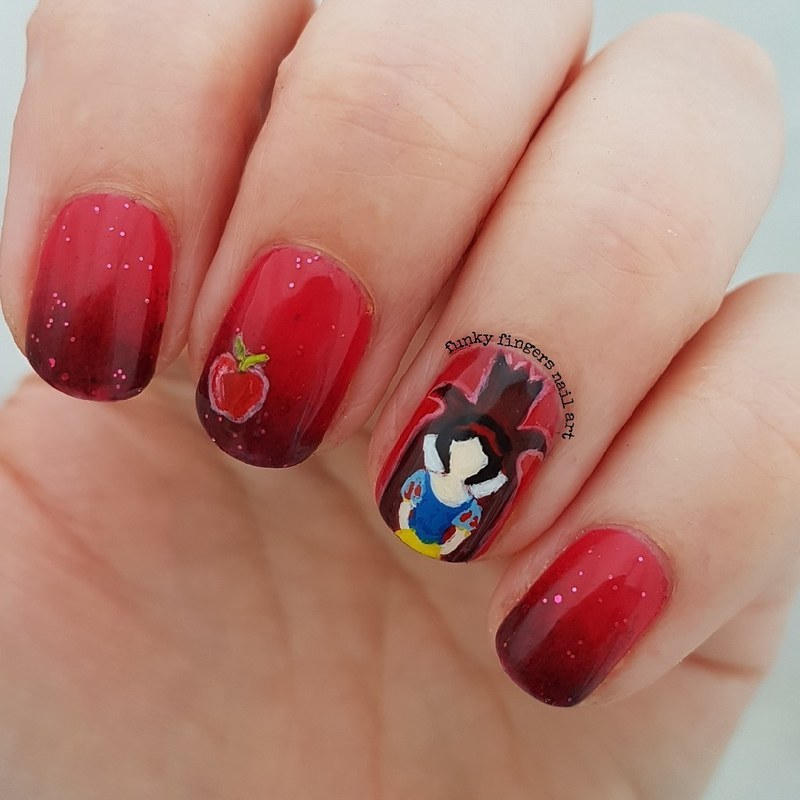 Snow white and the Evil queen nail art by Funky fingers nail art ...