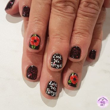 Anzac day nails  nail art by Funky fingers nail art
