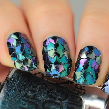 Nails dragon glitter thumb370f