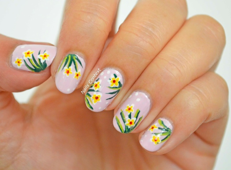 Flower Fields nail art by NailsContext