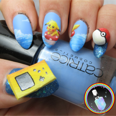 3D Pikachu Nails nail art by Ithfifi Williams