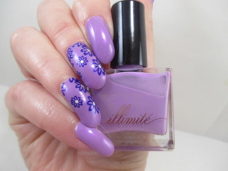 Firey Lilac nail art by NinaB
