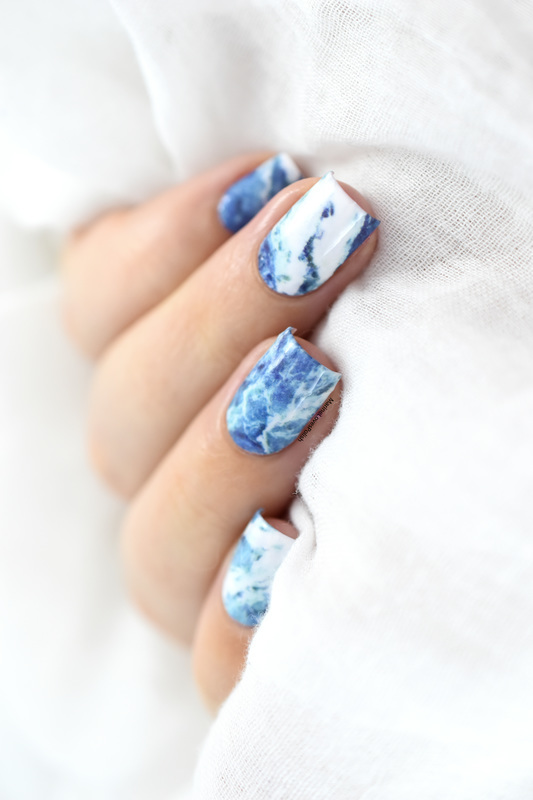 Ocean Marble nail art by Marine Loves Polish - Nailpolis: Museum of ...