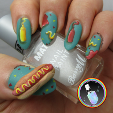 3D Hot Dog Nails nail art by Ithfifi Williams
