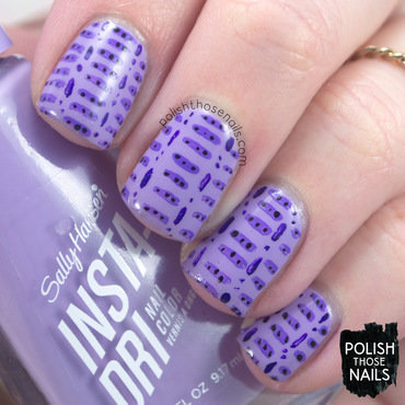 Sally hansen leapin lilac purple pattern nail art 4 thumb370f