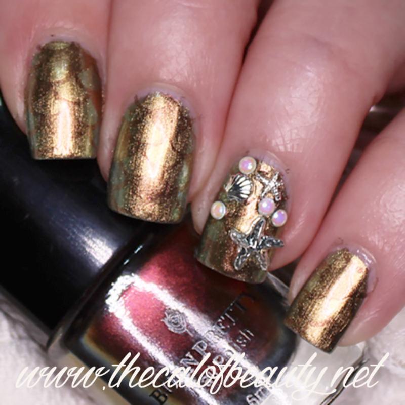 Dark Mermaid nail art by The Call of Beauty