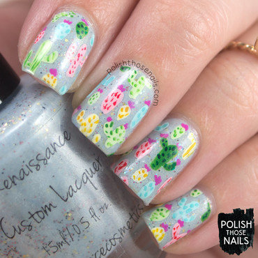 The Pastel Cacti Are Our Canvas nail art by Marisa  Cavanaugh