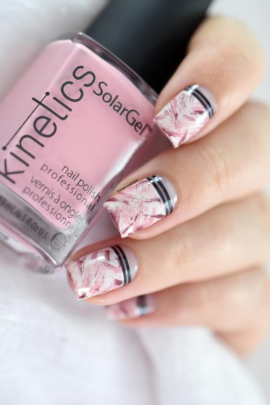 Pink Dry Brush nail art by Marine Loves Polish